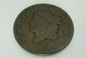 1831 US LARGE CENTS CORONET HEAD PIECE COIN 1 ONE CENT