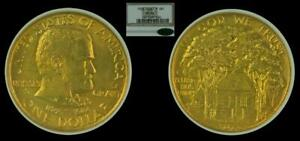 1922 G$1 NGC MS64 CAC   GRANT    CLASSIC GOLD COMMEMORATIVE