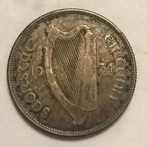 Click now to see the BUY IT NOW Price! 1934 IRELAND FLORIN    KEY DATE   ONLY 150 000 MINTED