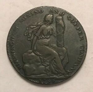 Click now to see the BUY IT NOW Price! 1792 BIRMINGHAM MINING & COAL COMPANY 1/2 HALF PENNY CONDER TOKEN