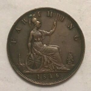 Click now to see the BUY IT NOW Price! 1886 GREAT BRITAIN FARTHING   GREAT EXAMPLE