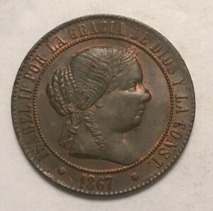 Click now to see the BUY IT NOW Price! 1867 SPAIN 5 CENTIMOS   NICE AU/UNC