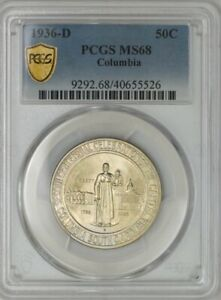 Click now to see the BUY IT NOW Price! 1936 D COLUMBIA HALF 50C MS68 PCGS SECURE 943453 21