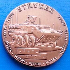 STRYKER INFANTRY FIGHTING VEHICLE   US ARMY UNC MILITARY 40MM UNUSUAL COIN