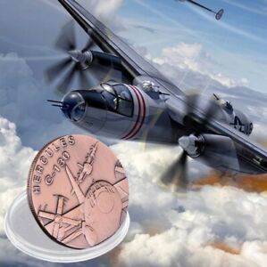 C 130 HERCULES AIRCRAFT   US ARMY UNC MILITARY 40MM UNUSUAL COIN