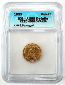 Click now to see the BUY IT NOW Price! CZECHOSLOVAKIA 1933 DUKAT GOLD COIN ICG AU58 DETAILS KM8