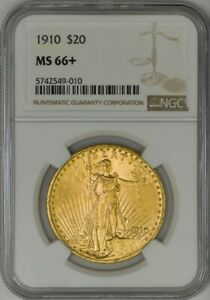 Click now to see the BUY IT NOW Price! 1910 $20 ST. GAUDENS MS66  NGC 943194 17