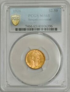 1926 $2 1/2 GOLD SESQUICENTENNIAL $2.5 MS65 PCGS SECURE 943586 12