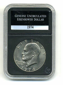 1974 D CH BU EISENHOWER DOLLAR CHOICE BRILLIANT UNCIRCULATED MINT STATE COIN732