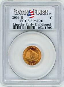 2009 D BICENTENNIAL LINCOLN CENT EARLY CHILDHOOD SATIN FINISH PCGS SP68RD