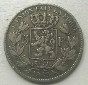 Click now to see the BUY IT NOW Price! 1869 BELGIUM 5 FRANCS   BIG SILVER