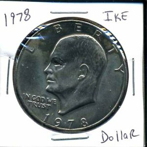 1978 P EISENHOWER DOLLAR CHOICE BRILLIANT UNCIRCULATED MINT STATE US COINWC3332