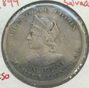Click now to see the BUY IT NOW Price! 1894 EL SALVADOR 1 ONE PESO   NICE SILVER