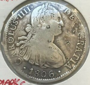 Click now to see the BUY IT NOW Price! 1806 MO TH MEXICO 8 REALES   CHOPMARKS