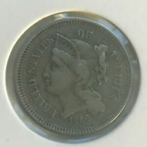Click now to see the BUY IT NOW Price! 1866 NICKEL 3 CENT PIECE