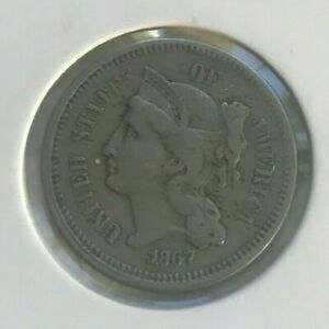 Click now to see the BUY IT NOW Price! 1867 NICKEL 3 CENT PIECE
