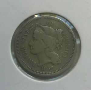 Click now to see the BUY IT NOW Price! 1869 NICKEL 3 CENT PIECE