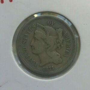 Click now to see the BUY IT NOW Price! 1871 NICKEL 3 CENT PIECE