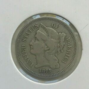 Click now to see the BUY IT NOW Price! 1873 NICKEL 3 CENT PIECE