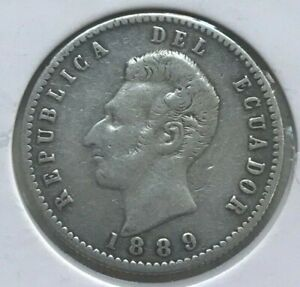 Click now to see the BUY IT NOW Price! 1889 ECUADOR 2 DECIMOS   MINTED IN SANTIAGO CHILE