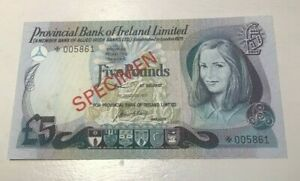 Click now to see the BUY IT NOW Price! 1977 NORTHERN IRELAND 5 POUNDS SPECIMEN WORLD CURRENCY BANKNOTE