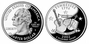 2002 S GEM BU PROOF TENNESSEE STATE QUARTER BRILLIANT UNCIRCULATED COIN PF