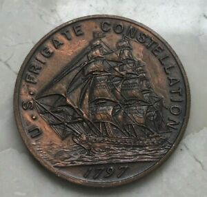 Click now to see the BUY IT NOW Price! 1797 US FRIGATE CONSTELLATION MEDAL