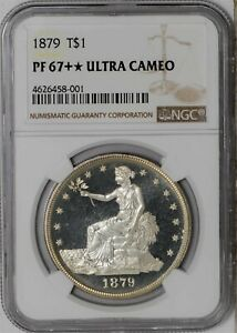 Click now to see the BUY IT NOW Price! 1879 TRADE DOLLAR $ PF67   ULTRA CAMEO NGC 938521 2
