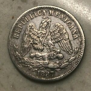 Click now to see the BUY IT NOW Price! 1887 MO M MEXICO 25 CENTAVOS