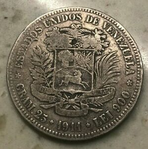 Click now to see the BUY IT NOW Price! 1911 VENEZUELA 5 BOLIVARES
