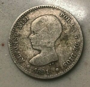Click now to see the BUY IT NOW Price! 1891 SPAIN 1 ONE PESETA   SILVER