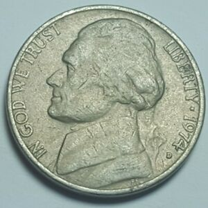 1974 D JEFFERSON NICKELS 5C GOOD VG CIRCULATED COIN