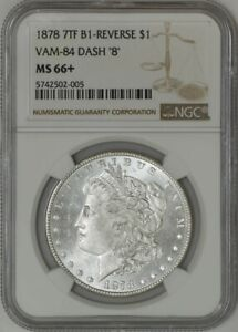 Click now to see the BUY IT NOW Price! 1878 7TF MORGAN DOLLAR $ B 1 REVERSE VAM 84 DASH 8 MS66  NGC 942969 1