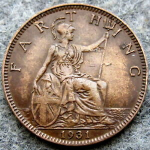GREAT BRITAIN GEORGE V 1931 FARTHING