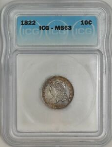 Click now to see the BUY IT NOW Price! 1822 CAPPED BUST DIME 10C MS63 ICG 942444 1