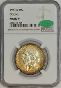 Click now to see the BUY IT NOW Price! 1937 S BOONE HALF 50C MS67  NGC CAC 943455 10