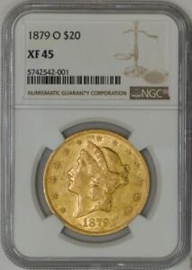 Click now to see the BUY IT NOW Price! 1879 O $20 GOLD LIBERTY XF45 NGC 943163 2