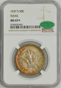 Click now to see the BUY IT NOW Price! 1937 S TEXAS 50C MS67  NGC   CAC 943455 18