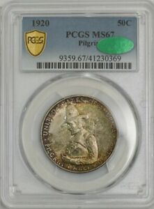 Click now to see the BUY IT NOW Price! 1920 PILGRIM HALF 50C MS67 PCGS SECURE CAC 943729 40
