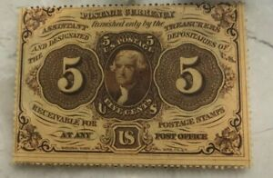 Click now to see the BUY IT NOW Price! 1862 UNITED STATES FRACTIONAL CURRENCY 5 CENT NOTE   PERFORATED ISSUE