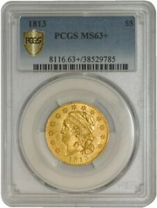 Click now to see the BUY IT NOW Price! 1813 $5 GOLD CAPPED BUST MS63  SECURE PLUS PCGS 942038 4