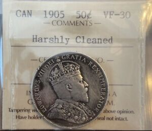 50 CENTS 1905 CANADA ICCS VF30