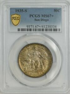 Click now to see the BUY IT NOW Price! 1935 S SAN DIEGO 50C MS67  SECURE PLUS PCGS 943729 48