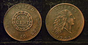 EARLY AMERICAN COPPER CENT 1793