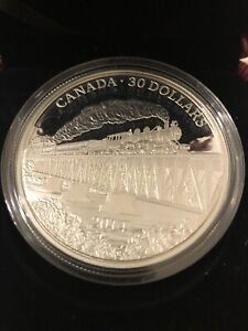 Click now to see the BUY IT NOW Price! 2014 100TH ANNIV. OF GRAND TRUNK PACIFIC RAILWAY 2 OZ $30 SILVER COIN