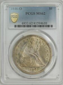1846 O SEATED LIBERTY DOLLAR $ MS62 PCGS SECURE 943746 5