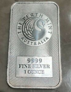Click now to see the BUY IT NOW Price! 2017 PERTH MINT AUSTRALIA 1 OZ .9999 SILVER BAR   SWAN & KANGAROO DESIGN
