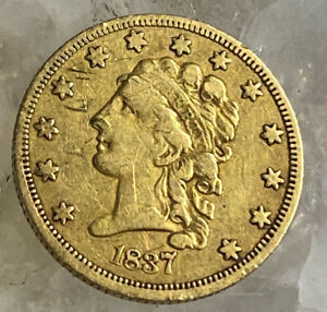 1837 $2.50 CLASSIC HEAD GOLD  BETTER DATE