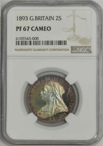 Click now to see the BUY IT NOW Price! 1893 GREAT BRITAIN 2 SHILLINGS PF67 PR67 CAMEO NGC 943812 1