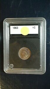 1863 INDIAN HEAD CENT NEAR GEM UNCIRCULATED 1C PENNY COIN PRICED TO SELL FAST